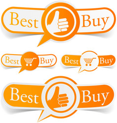 Best buy orange tags vector