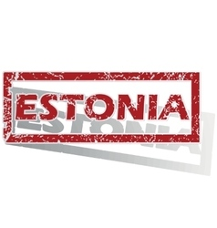 Estonia outlined stamp vector