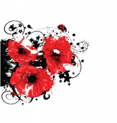 Abstract poppy vector