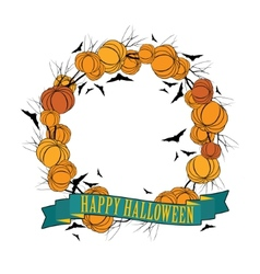Halloween wreath 3 vector