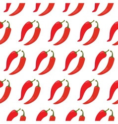 Seamless pattern with red chili peppers vector