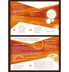 Brochure folder globe element design vector