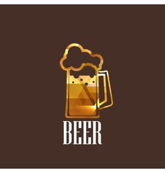 With beer glass icon vector