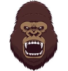 Angry gorilla head vector