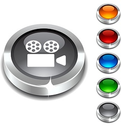 Cinema 3d button vector