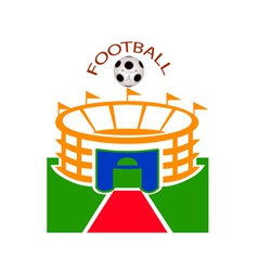 Football stadium vector