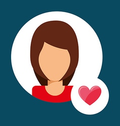 Lover avatar vector