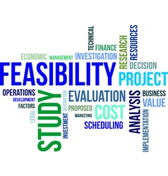 Word cloud feasibility study vector