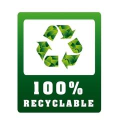 Eco label vector
