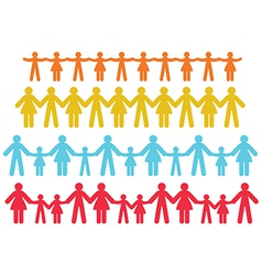 People chain vector