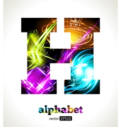 Design abstract letter h vector