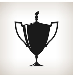 Silhouette cup of winner gold trophy cup vector