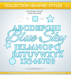 Blue sky graphic styles for design use for decor vector