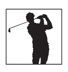 Man playing golf design vector