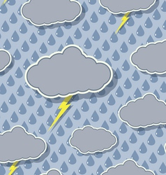 Seamless rain cloud pattern vector