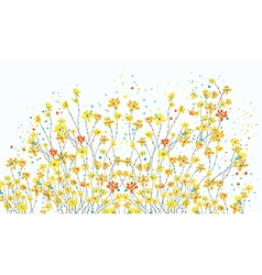 Floral banner with daffodil flowers vector