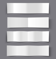 Set of bended paper banners with shadows vector