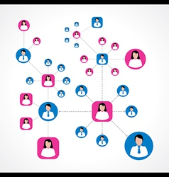 Social network concept with male and female icons vector
