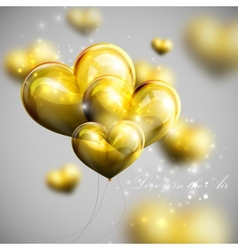 Holiday of bunch of balloon hearts vector
