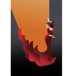 Styled spain flamenco dancer vector
