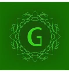 Simple monogram g vector