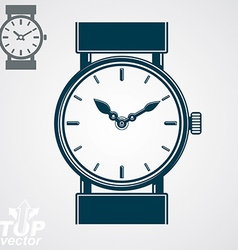Simple wristwatch detailed quartz watch wit vector