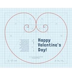 Fibonacci heart vector