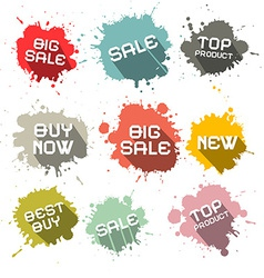 Blots - splashes business discount labels vector