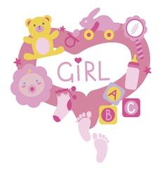 Newborn girl toys vector