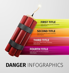 Danger infographics vector