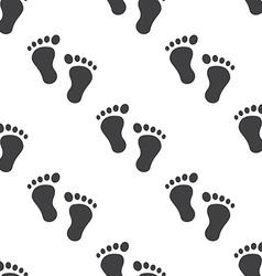 Man footprints seamless pattern vector