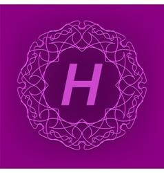 Monogram h design vector