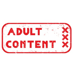 Adult content stamp vector