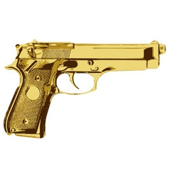 Golden gun vector