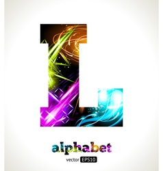 Design abstract letter l vector