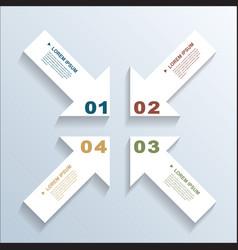 Paper arrows infographic 3 vector