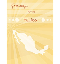 Greetings from mexico vector