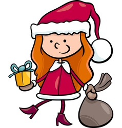 Santa claus kid cartoon vector