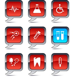 Medical balloon icons vector
