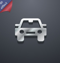 Auto icon symbol 3d style trendy modern design vector