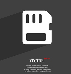 Compact memory card icon symbol flat modern web vector