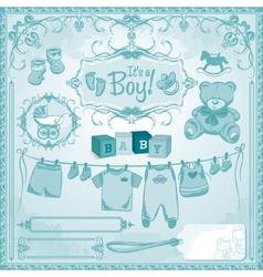 Baby boy childbirth vector