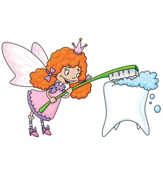 Cute tooth fairy vector