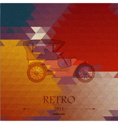 Abstract background with retro automobile vector