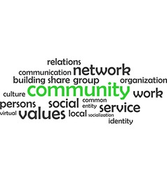 Word cloud community vector