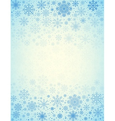 Frosty snowflakes background vector