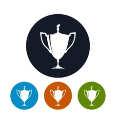 Icon cup of winnericon gold trophy cup vector