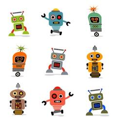 Cute robots set 1 vector