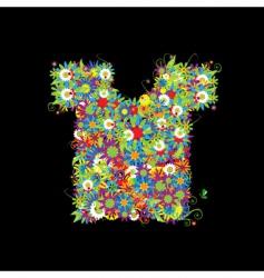 Floral t-shirt vector