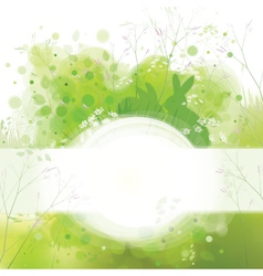 Spring frame rabbits card vector